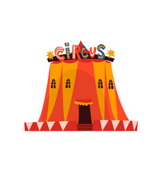 big circus marquee tent with flags cartoon vector image