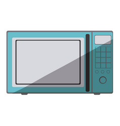 Blue color silhouette of oven microwave vector