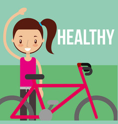 Boy and girl healthy good habits vector