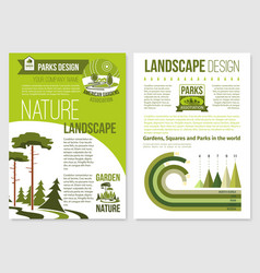 Brochure for nature landscape design vector