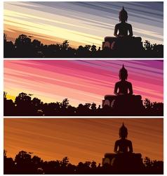 Buddha Dusk vector image