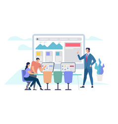 business meeting and teamworking office work vector image