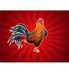 Cartoon rooster Isolated object for design element vector image