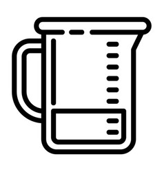 chemical jug icon outline style vector image