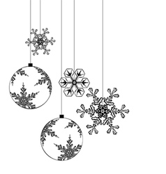 Christmas background elements for designers vector image