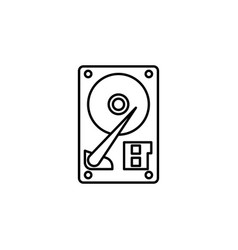 computer hdd icon on light beige background vector image