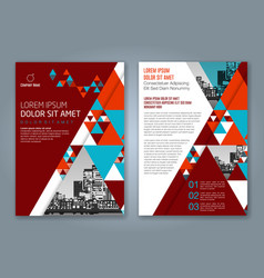 Cover annual report 801 vector