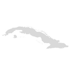 cuba map bahamas caribbean area vector image
