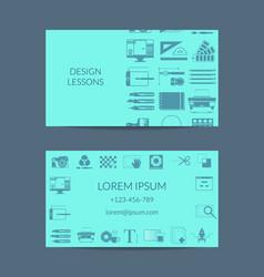 Digital art design studion or lessons vector