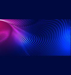 Digital particle mesh technology background design vector