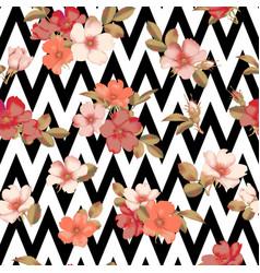 dog-rose blooms wild rose seamless pattern vector image