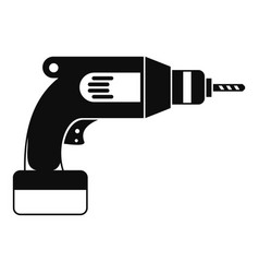 Drill icon simple style vector