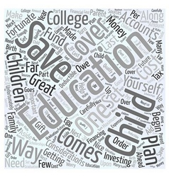 Educational Savings Accounts Word Cloud Concept vector