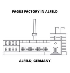 Fagus factory in alfeld alfeld germany line icon vector
