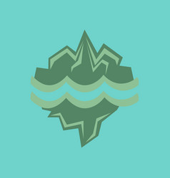 flat icon on stylish background melting glacier vector image