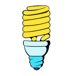 fluorescence lamp icon cartoon vector image