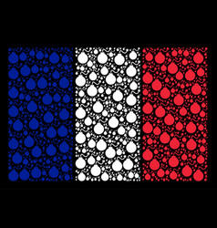 french flag mosaic of bomb icons vector image