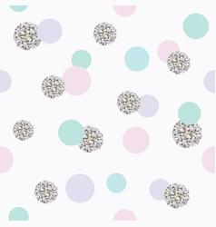 glitter confetti polka dot seamless pattern vector image