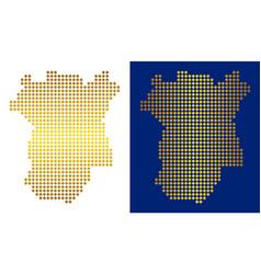 Golden abstract chechnya map vector