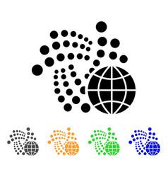 Iota global icon vector