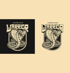 Japanese martial arts vintage badge vector