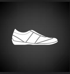 Man casual shoe icon vector