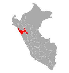 Map la libertad in peru vector