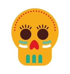 mask mexican skull icon vector image