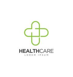 Medical or pharmacy logo design health care logo vector