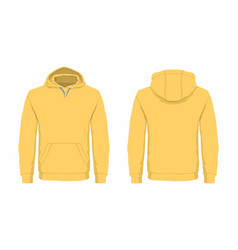 Mens yellow hoodie vector