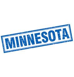 Minnesota blue square grunge stamp on white vector