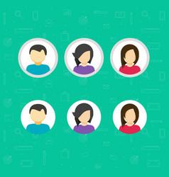 my account icons set flat design avatar vector image