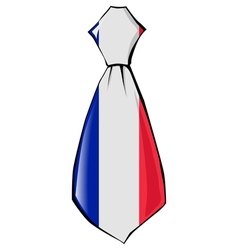Necktie in national colours of France vector
