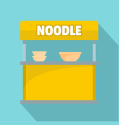 Noodle selling icon flat style vector
