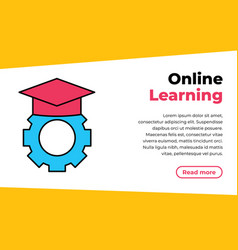 online education concept eps10 e-learning concept vector image