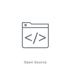 Open source code icon software source vector