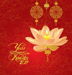 Oriental chinese new year lotus lantern pattern vector