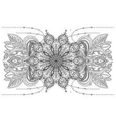 ornamental design element ethnic art vector image