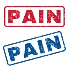Pain Rubber Stamps vector image