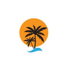 palm tree graphic design template isolated vector image