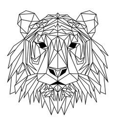 Polygonal geometric wolf head abstract linear vector