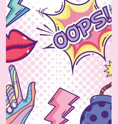 pop art cartoons vector image