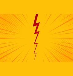 Pop art comic background lightning blast halftone vector