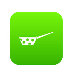 pot with white dots and handle icon digital green vector image