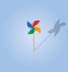 Realistic pinwheel icon vector