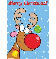 Reindeer cartoon vector image