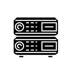 router icon black sign on vector image
