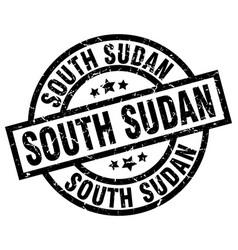 South sudan black round grunge stamp vector