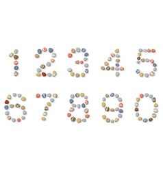 stone digits vector image