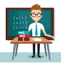 Teacher school classroom icon vector